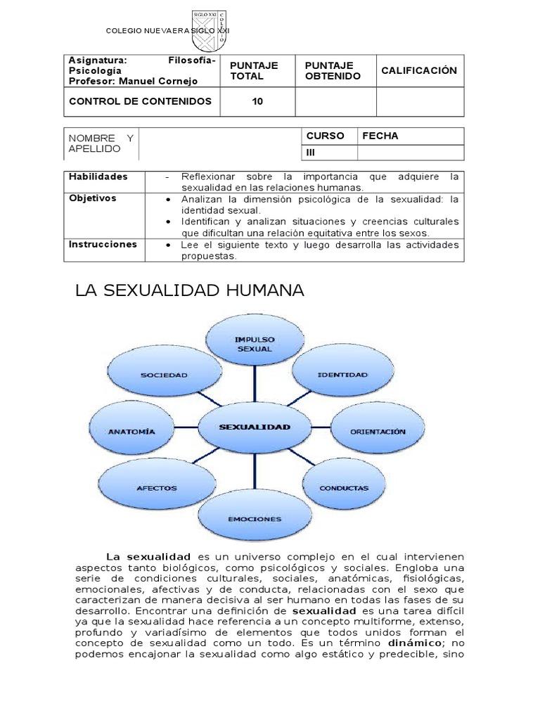 Trabajo de Filosofía Sexualidad