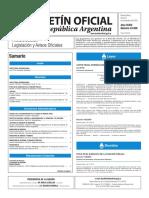Boletín Oficial de la República Argentina, Número 33.508. 21 de noviembre de 2016