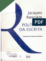 Políticas Da Escrita (Prefácio) - Jacques Rancière