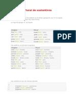 Plural de Sustantivos