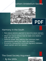 slavery   southern antebellum society