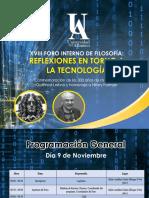 Programación Oficial - Foro Interno