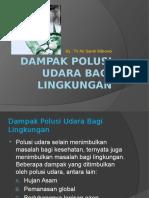 Dampak Polusi Udara Bagi Lingkungan
