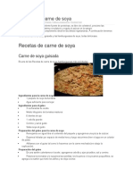 Recetas de Carne de Soya