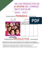 FORMATOS DE LOS PRODUCTOS PARA LA TERCERA SESIÓN DEL CONSEJO TÉCNICO ESCOLAR