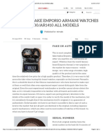 HOW TO SPOT FAKE EMPORIO ARMANI WATCHES AR1400:AR1410 ALL MODELS | eBay
