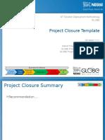 SDM - Project Closure