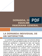 Demanda, Oferta y Equilibrio- Panoramica General