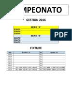 Campeonato de Confraternizacion 2016