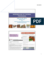 Microbiology of Thermal Processing