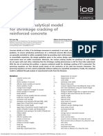 A Rigorous Analytical Model for Shrinkage Cracking of Reinforced Concrete