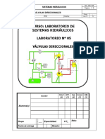 Lab 05 - Válvulas Direccionales Hidráulicas - 2016.2