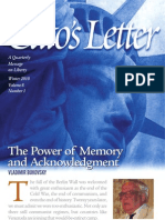 The Power of Memory and Acknowledgment, Cato Cato's Letter