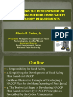 Alberto r. Cariso Jr. Simplifying the Development of Food Safety Plan Meeting Food Safety Regulatory Requirements