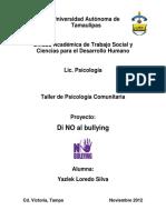Poyecto Di No Al Bullying Yazlek