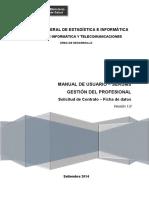 Manual de Usuario - SERUMS - Gestión Del Profesional