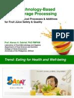 Dr. Alonzo a. Gabriel-hurdle Technology-based Fruit Beverage Processing