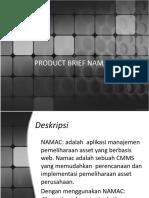 Product Brief Namac