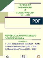 4 Republica Conservadora 1831-1861
