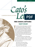 Faith, Commerce, and Freedom, Cato Cato's Letter