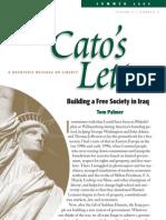 Building a Free Society in Iraq, Cato Cato's Letter