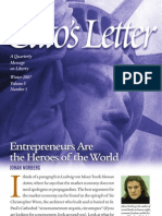 Entrepreneurs Are the Heroes of the World, Cato Cato's Letter