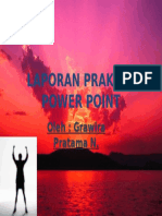 Laporan Praktek Power Point
