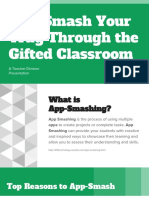 teacher division -- app smash your woay through the gifted classroom