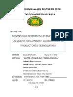 Informe de Riego Por Aspersion