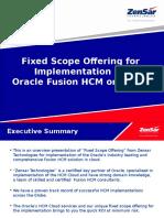 Zensar Oracle Fusion HCM FSO