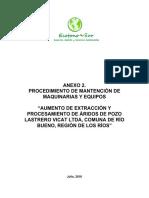Anexo 2. Procedimiento de Mantencion de Maquinarias y Equipos