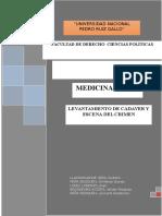 Levantamieto de Cadaver Monografia Con Indice y Portada