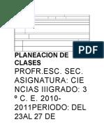 Planeacion de Clases