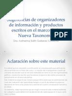 Organizadores Gráficos - Ejemplos de Trabajos Segun La Nva Taxonomia
