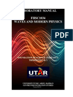 Labmanual Wave and Modern Physics