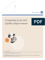 i Hi Comparing Lean and Qi White Paper