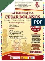 Homenaje a Cesar Bolaños