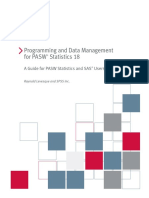 Programming and Data Management for PASW Statistics 18