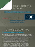ETAPAS, CICLO Y SISTEMAS DE CONTROL