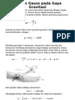 Hukum Gauss Pada Gaya Gravitasi
