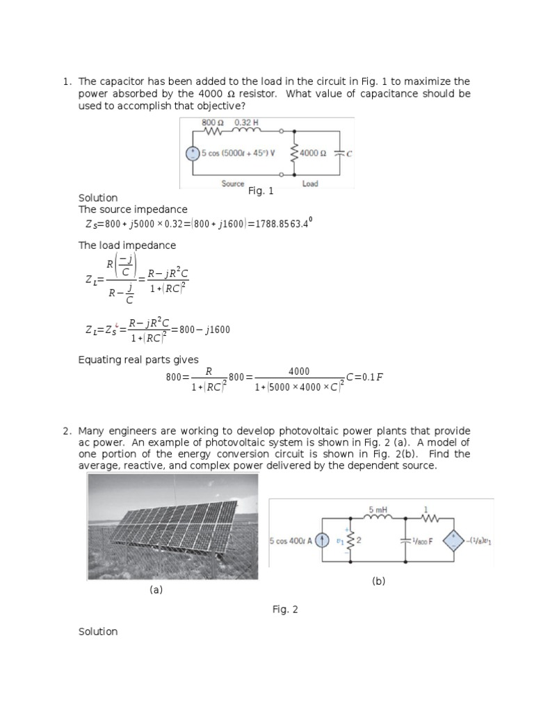 Assignment Electrical Impedance Network Electronic Circuit By Jb Gupta