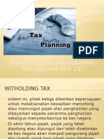 Tax Planning Witholding Tax (Selain Pph 21)