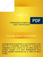 Notes on Foreign Direct Investment