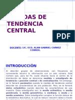 3. Medidas de Tendencia Central