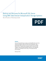 EMC Backup and Recovery for MS SQL Server Using EMC Data Domain Deduplicatio Storage Systems
