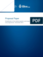 Proposal Paper_ Simplification of the Skilled Migration and Temporary Activity Visa Programmes - December 2014