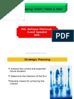 Strategic Plan,Swot,Twos & MBO,MBE,MBWA