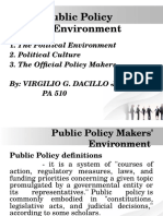 Report Presentation on Public Policy Makers_ Environment