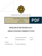 Research Methodology From Western Perspectives