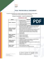 Programa VII Curso Virtual de Protección Al Consumidor Reprogramado